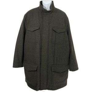 Brooks Brother Coat Wool Nylon Primaloft Quilted